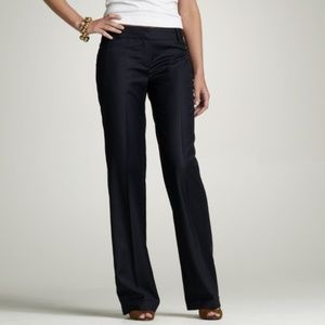J. Crew Navy Blue Pin Striped Trousers City Fit